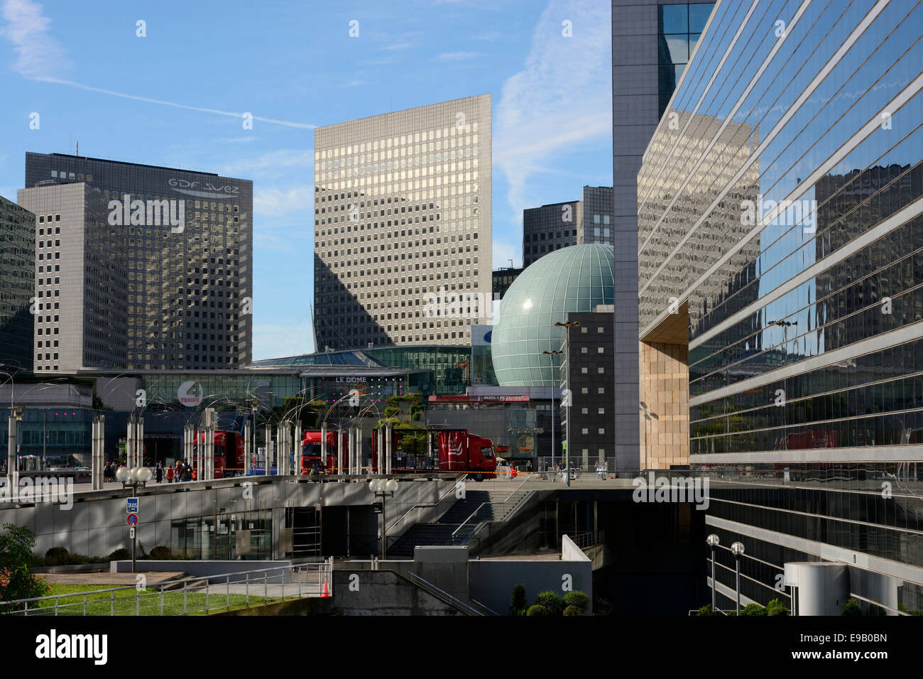 Modern buildings at La Défense, Paris, Île-de-France, France - Stock Image