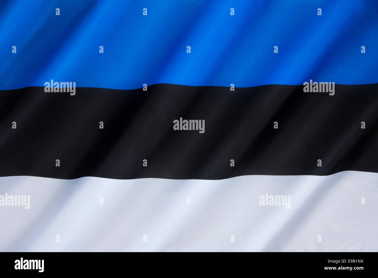 The national flag of Estonia - Stock Image