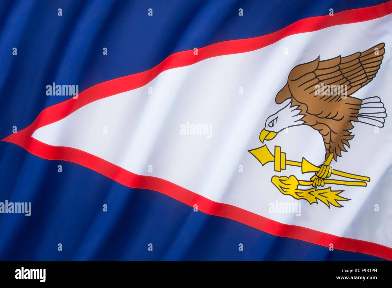 Flag of American Samoa - Stock Image