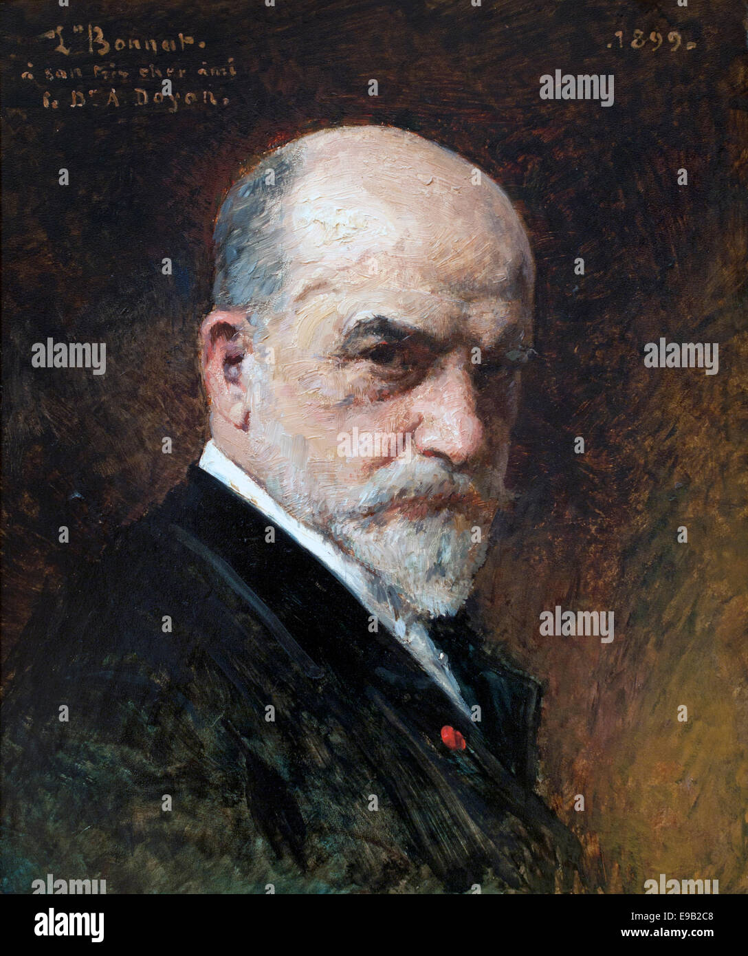 Portrait of the author 1899  Leo Bonnart 1834-1923 France French - Stock Image