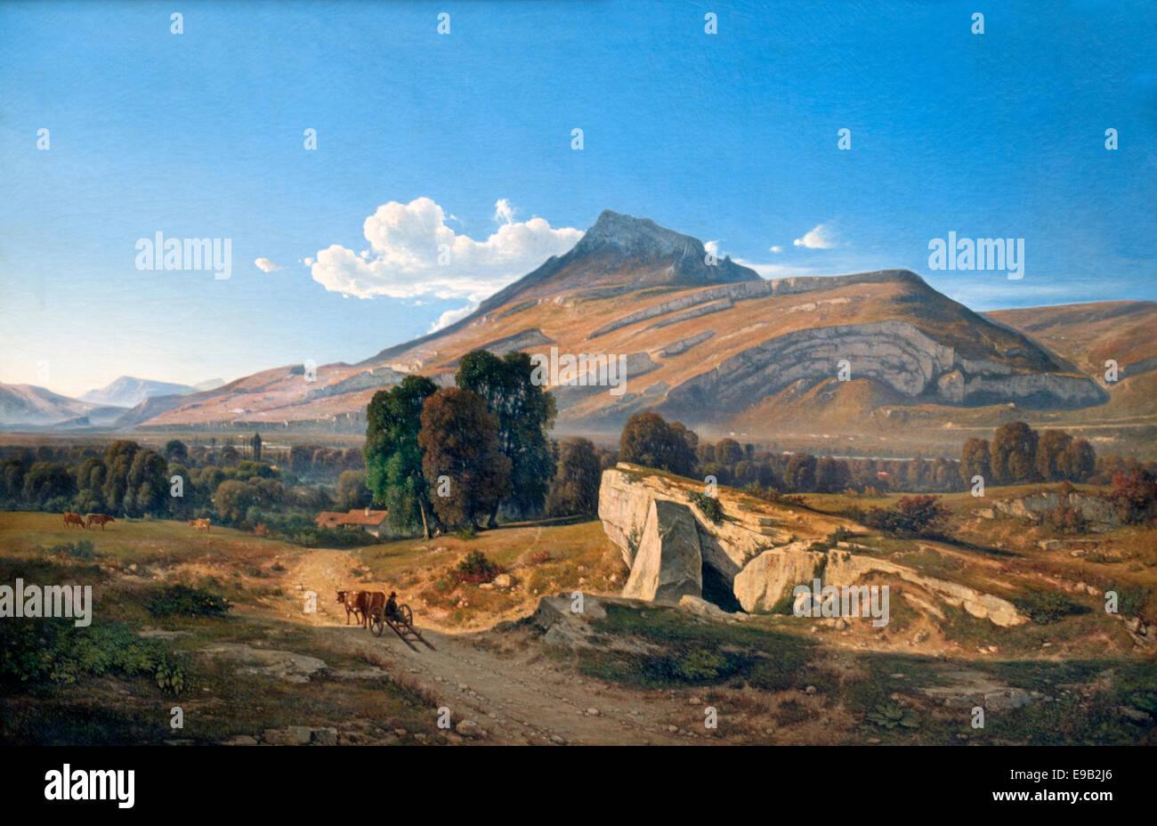 Paysage vue prise à Saint Egreve près de Grenoble - Landscape view near Grenoble Saint Egreve Jean Achard - Stock Image
