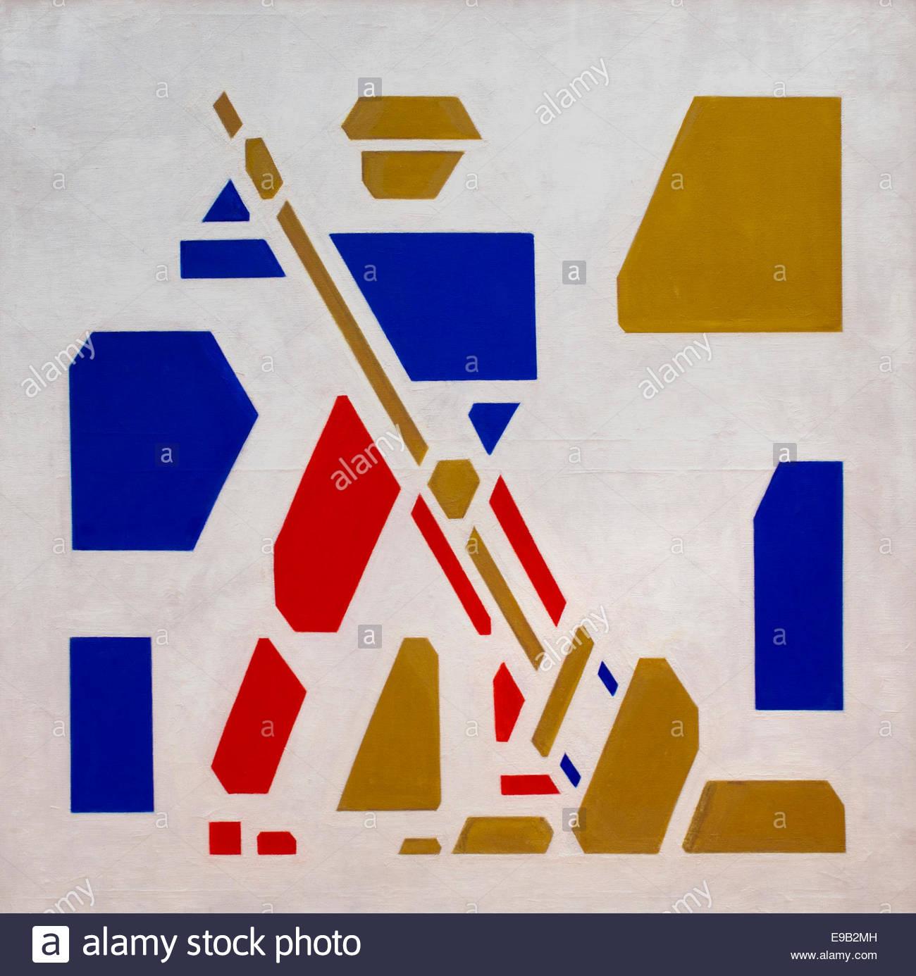 The Tedder by Bart van der Leck Dutch Painter The Netherlands - Stock Image