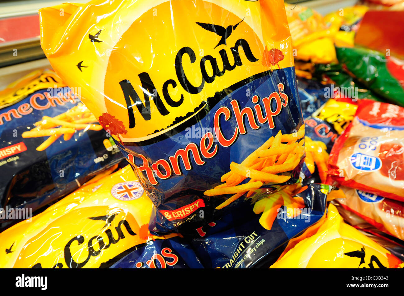 McCain Home chips been taken from the freezer (Newscast