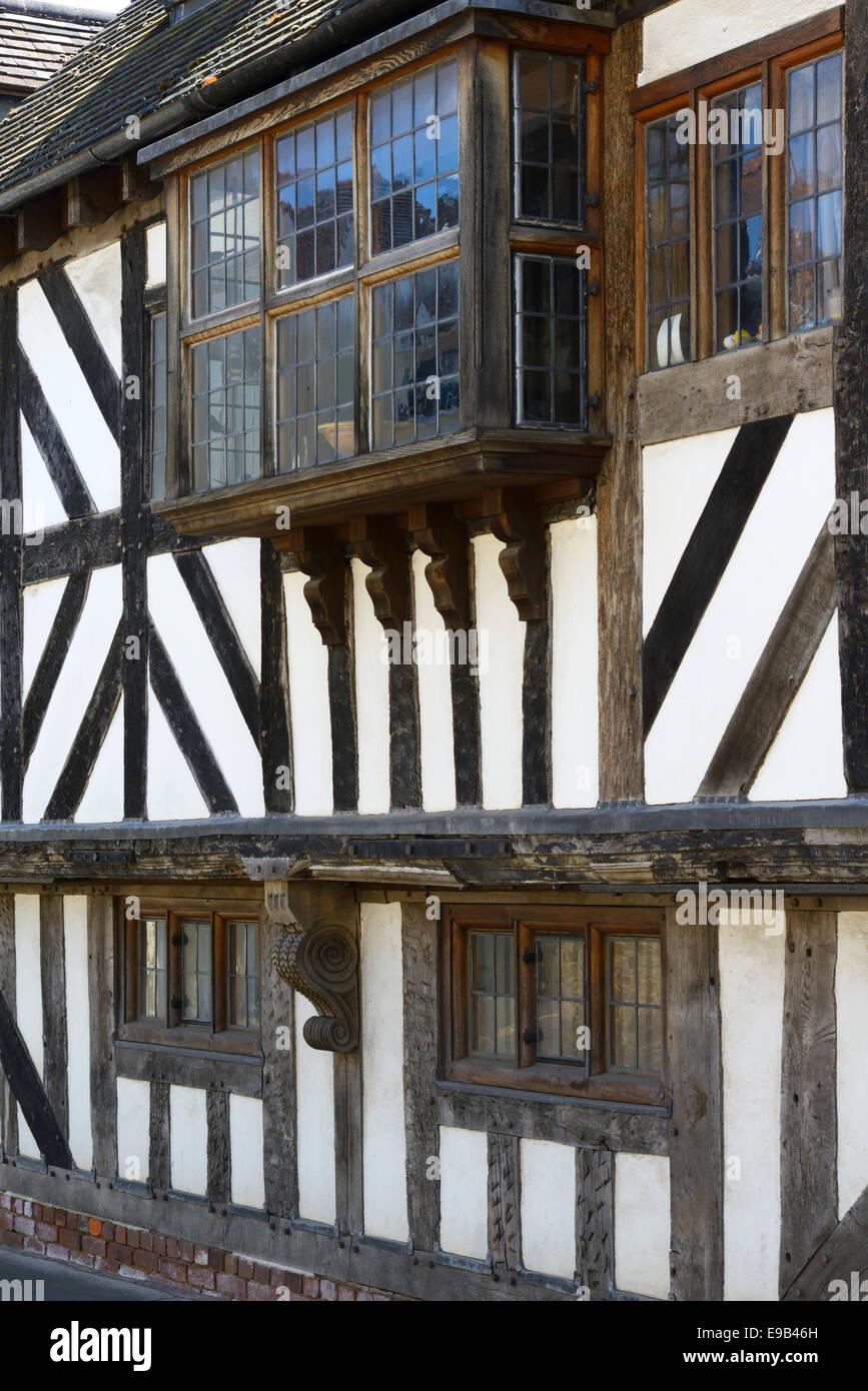 Timber framed house, Bell Lane, Ludlow, Shropshire, England, United Kingdom. Europe - Stock Image