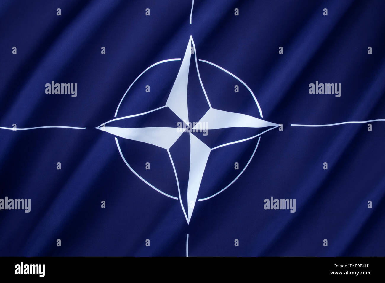 The flag of the North Atlantic Treaty Organization - NATO - Stock Image