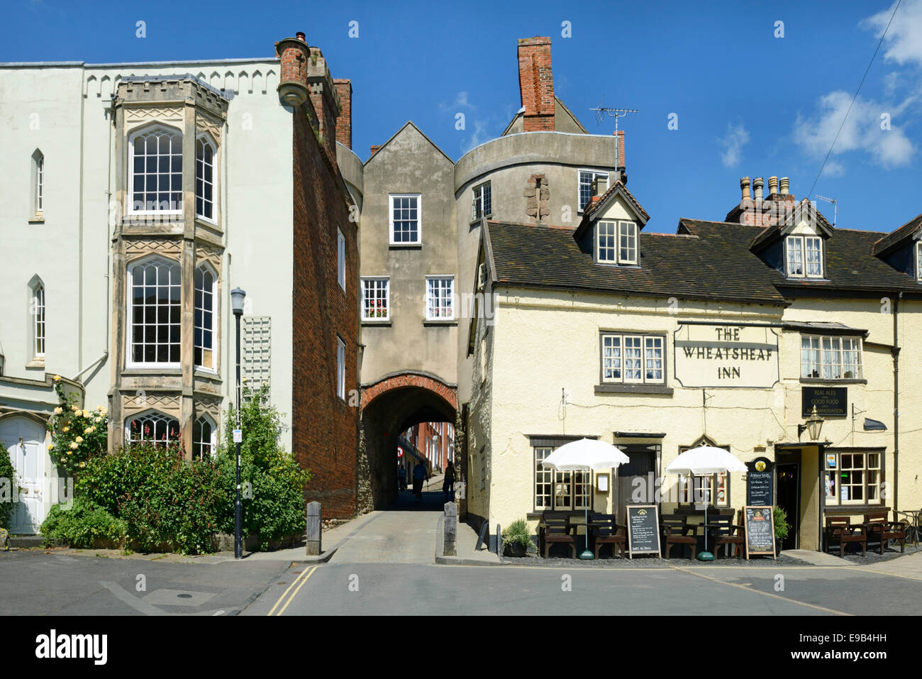 The 13th century Broad Gate, the only surviving medieval gate, Ludlow, Shropshire, England, United Kingdom. Europe - Stock Image