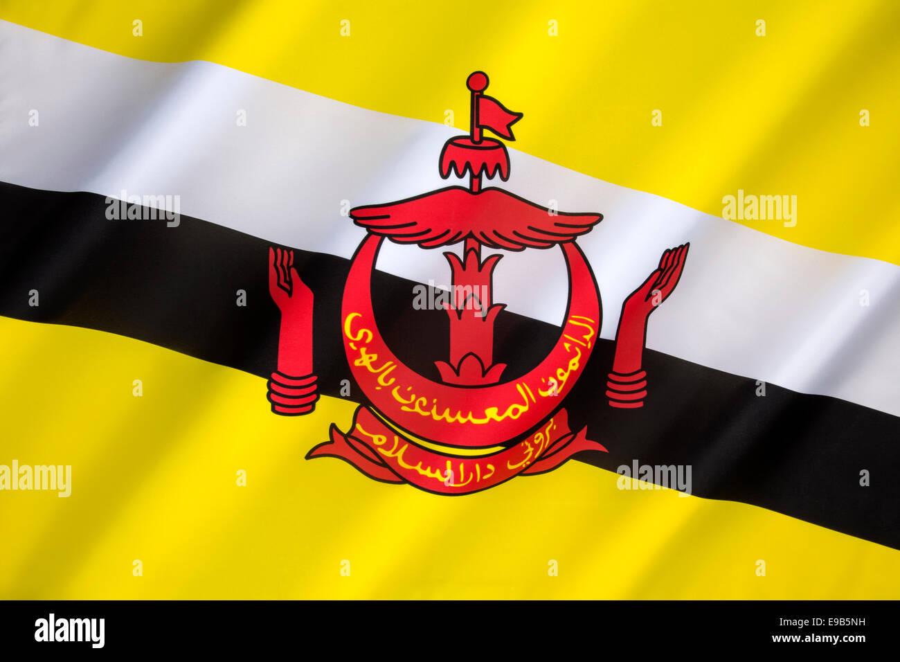 Flag of Brunei - Stock Image