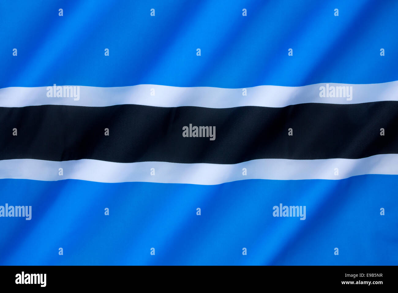 Flag of Botswana - Stock Image