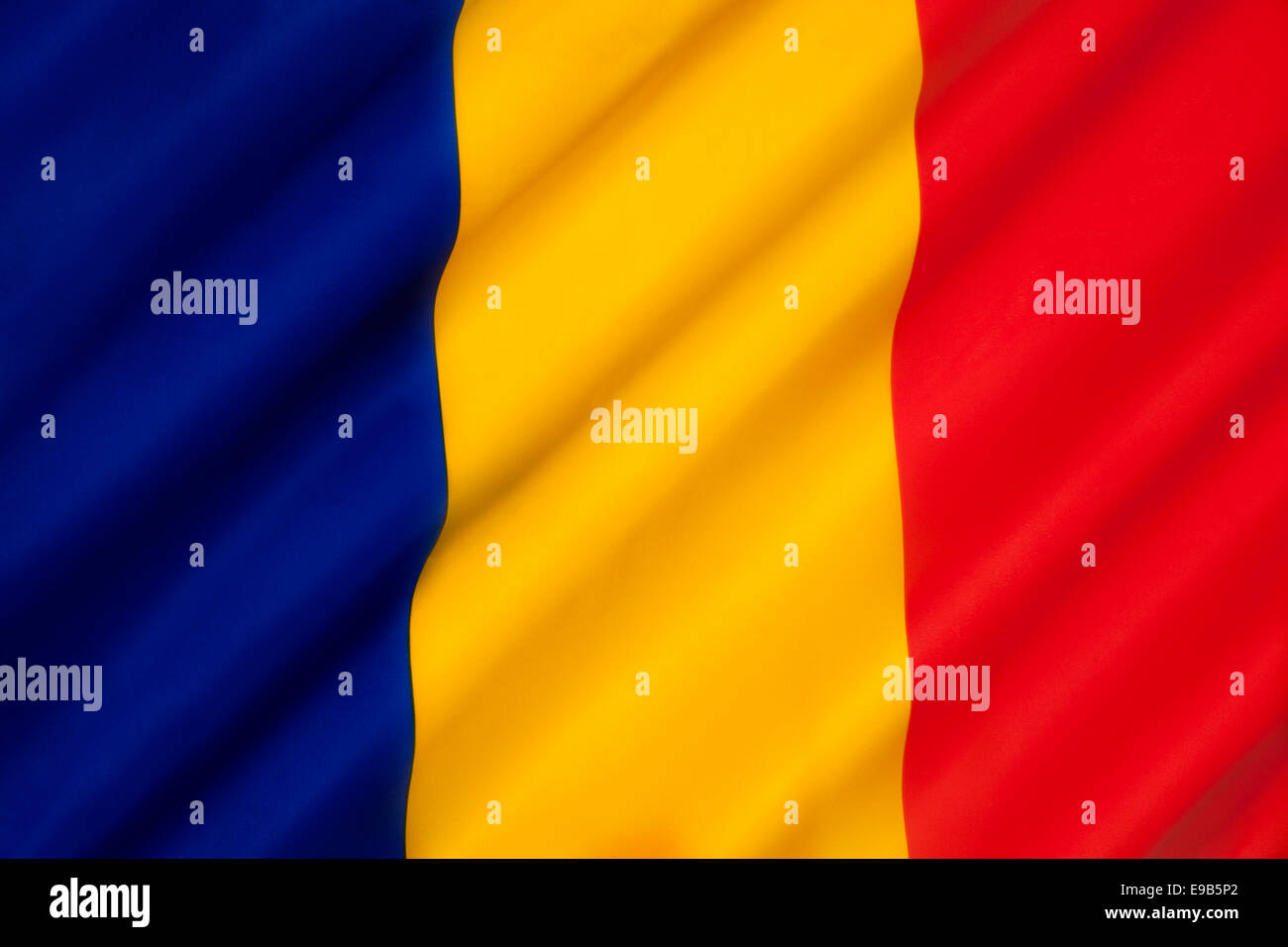 The national flag of Chad - Stock Image