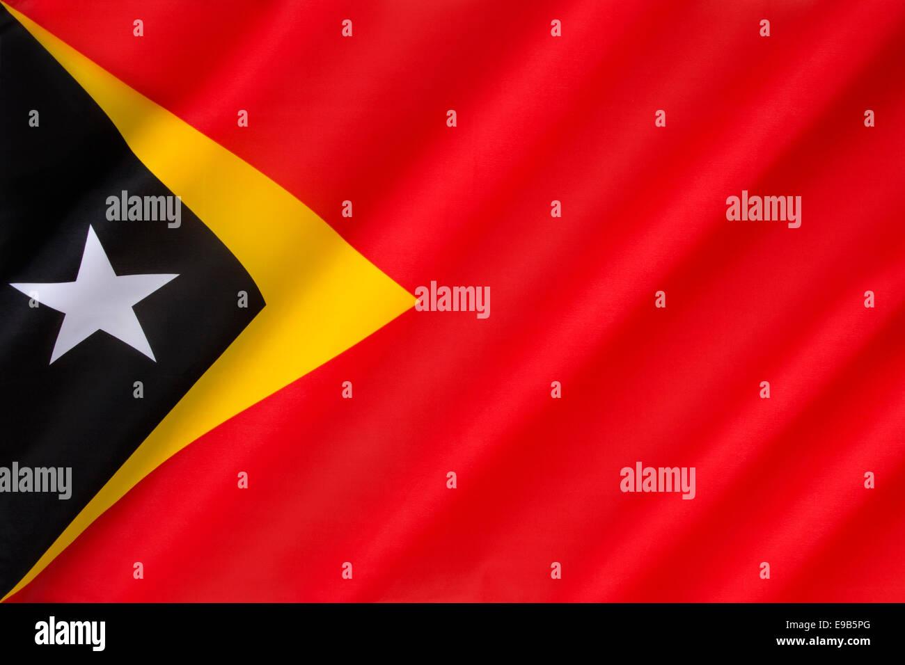 Flag of the Democratic Republic of Timor-Leste - East Timor - Stock Image