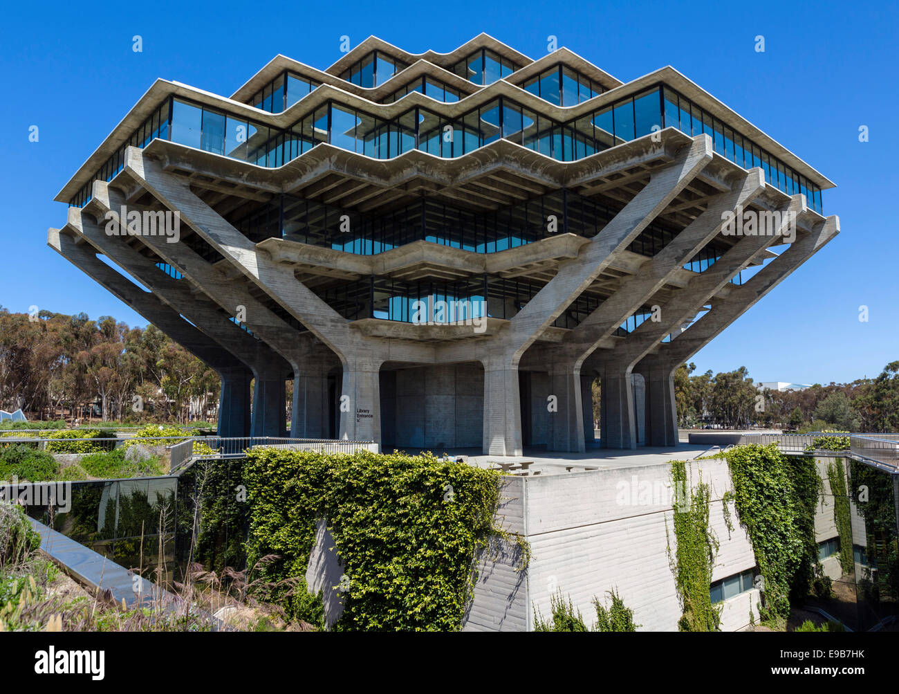The William Pereira designed Geisel Library at the University of California San Diego, La Jolla, California, USA - Stock Image