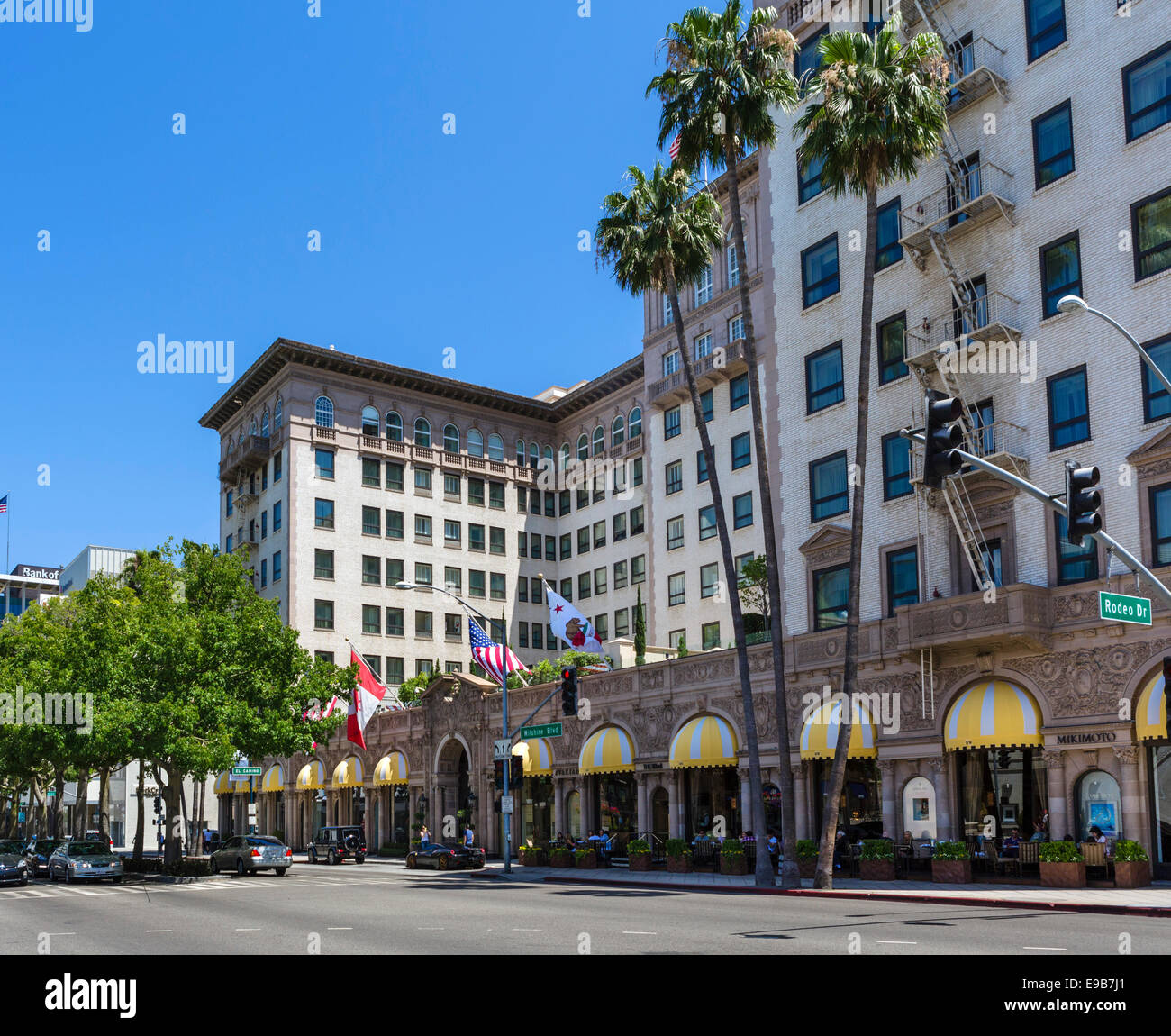 The Beverly Wilshire Hotel on Wilshire Boulevard, Beverly Hills, Los Angeles, California, USA - Stock Image