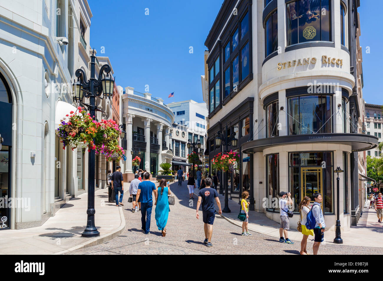 shops at two rodeo drive beverly hills los angeles california usa stock photo 74620848 alamy. Black Bedroom Furniture Sets. Home Design Ideas