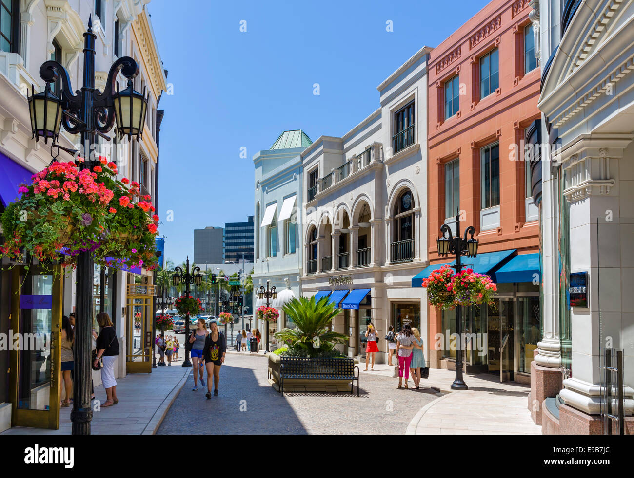 shops at two rodeo drive beverly hills los angeles california usa stock photo 74620852 alamy. Black Bedroom Furniture Sets. Home Design Ideas