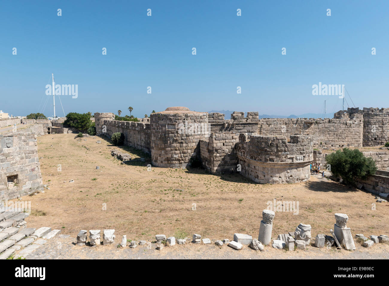 Nerantzia or Saint John Knights castle in Kos, island of Kos, Greece - Stock Image
