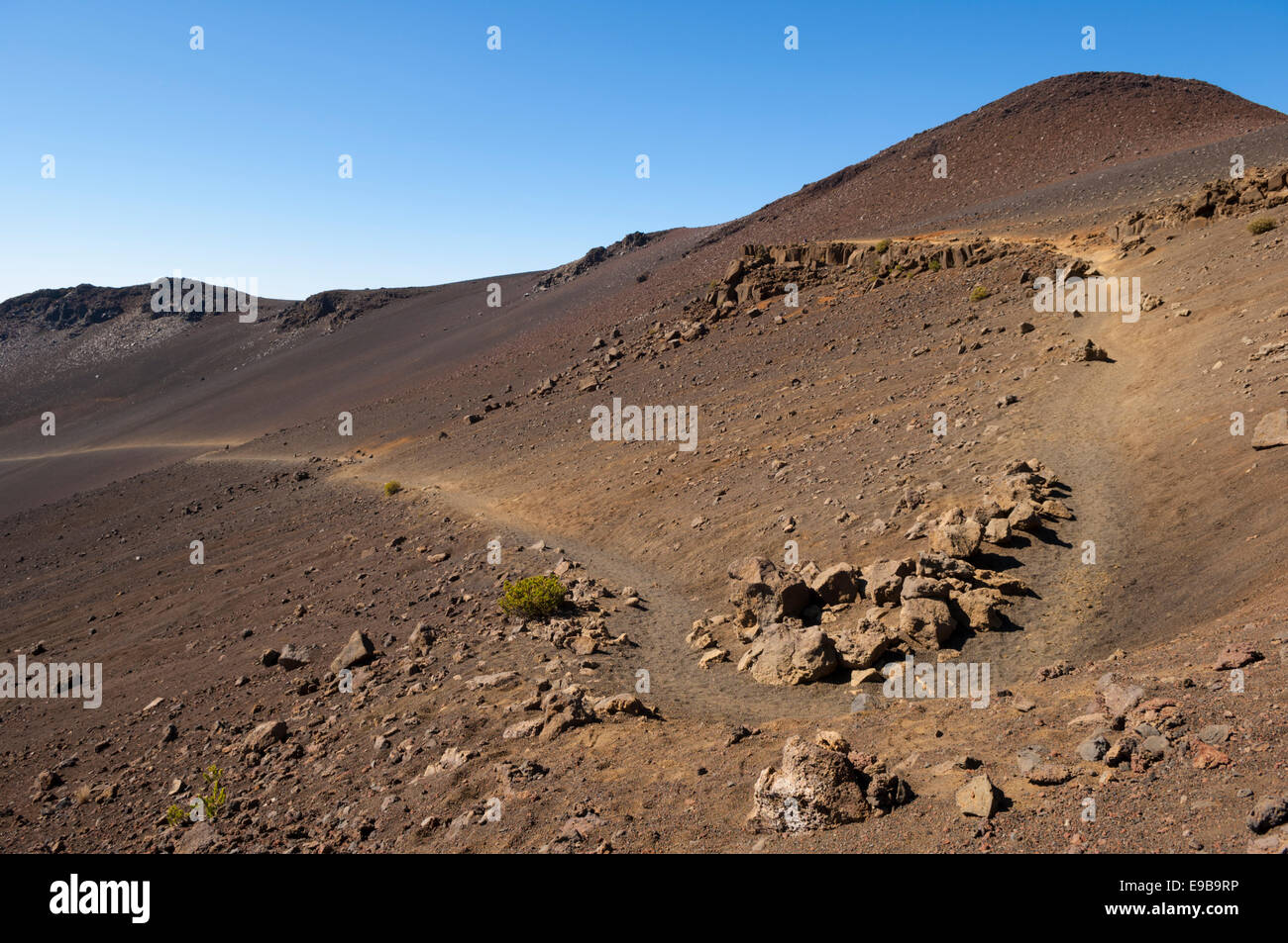 Sliding Sands Trail in Haleakala Crater; Haleakala National Park, Maui, Hawaii. - Stock Image