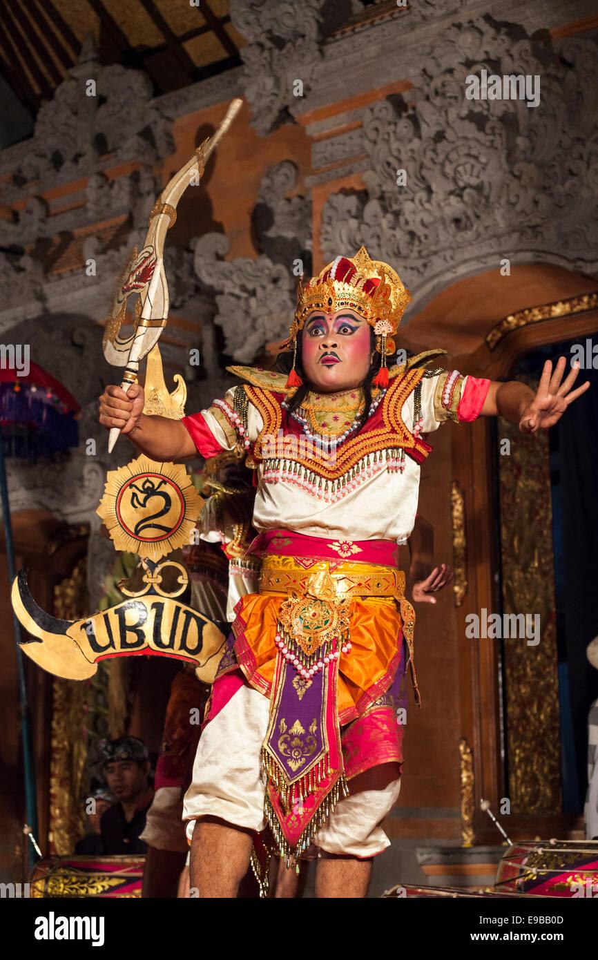 'Lencana Agung Ubud' traditional dance, [Ubud Palace], Bali, Indonesia - Stock Image