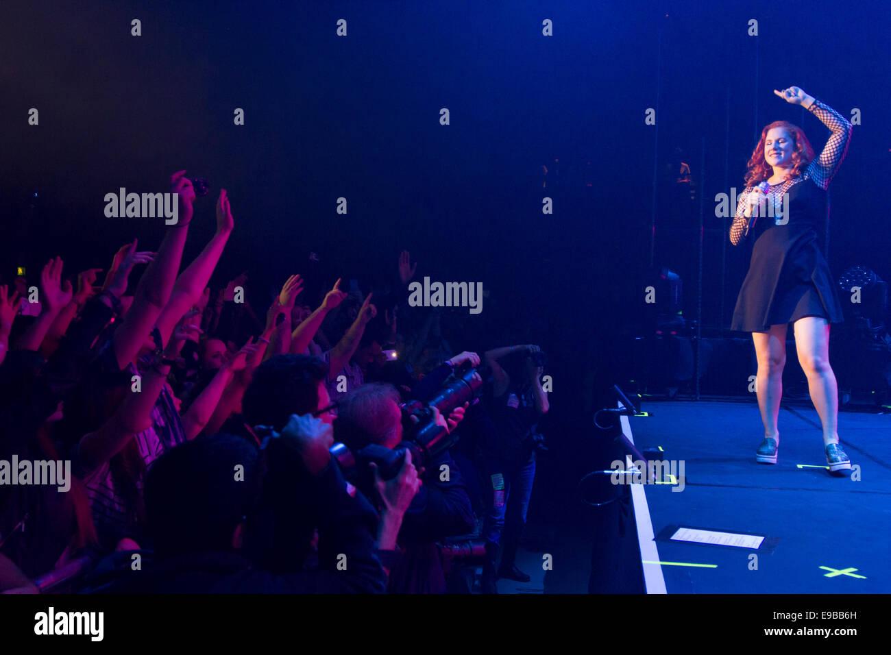 Katy B - Live performance - Roundhouse - London - Stock Image