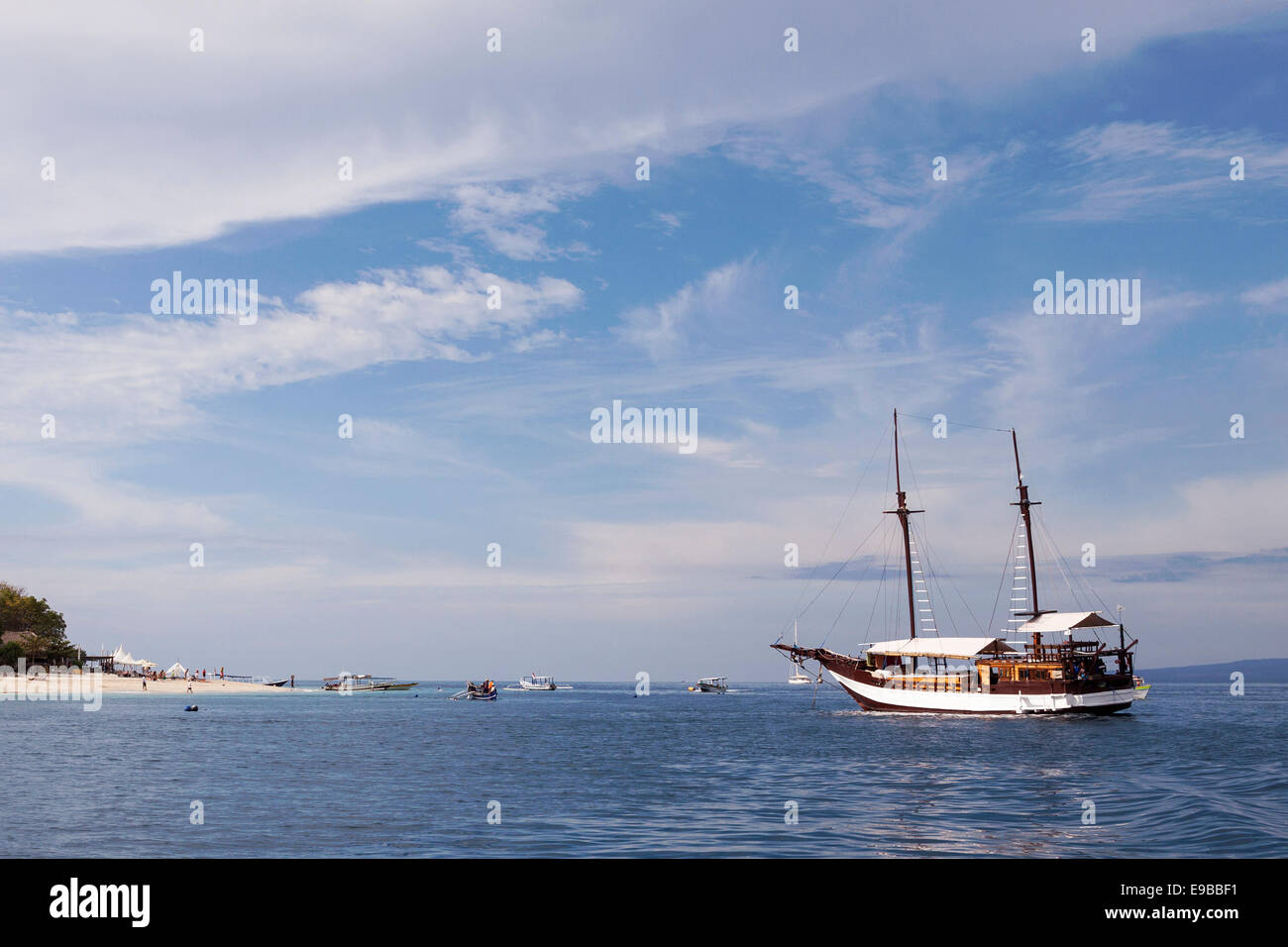 [Sailing boat], 'Gili Air', 'Gili Islands', Lombok, Indonesia - Stock Image