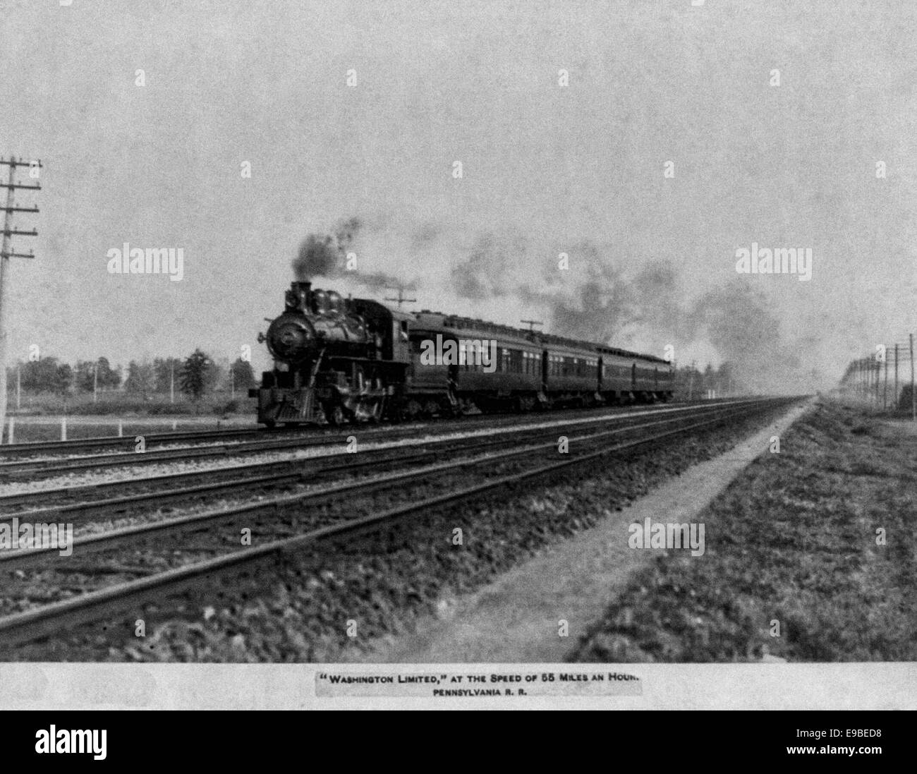 Washington Limited at the speed of 55 miles an hour 1896 - Stock Image