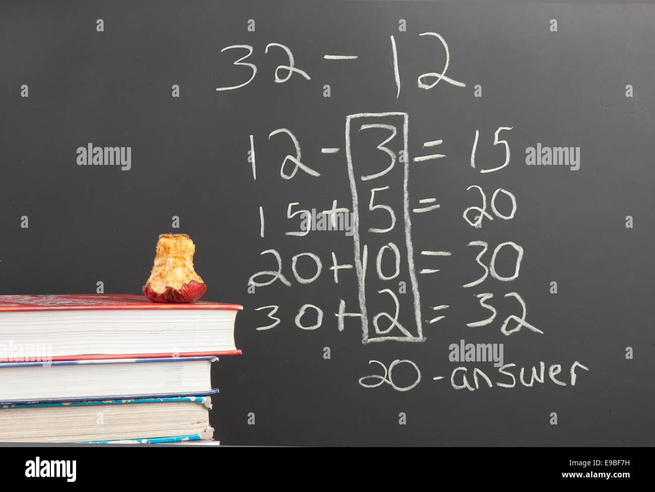 Common Core new math. - Stock Image