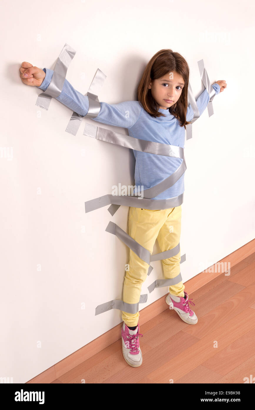 young girls tied up