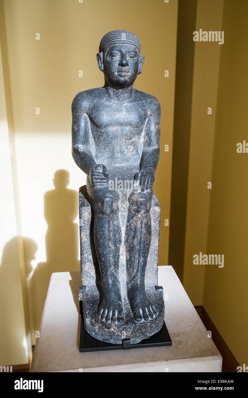 31d7cdca Sculpture an example of ancient Egyptian art currently part of a permanent  collection of Egyptian antiquities in Louvre, Paris.