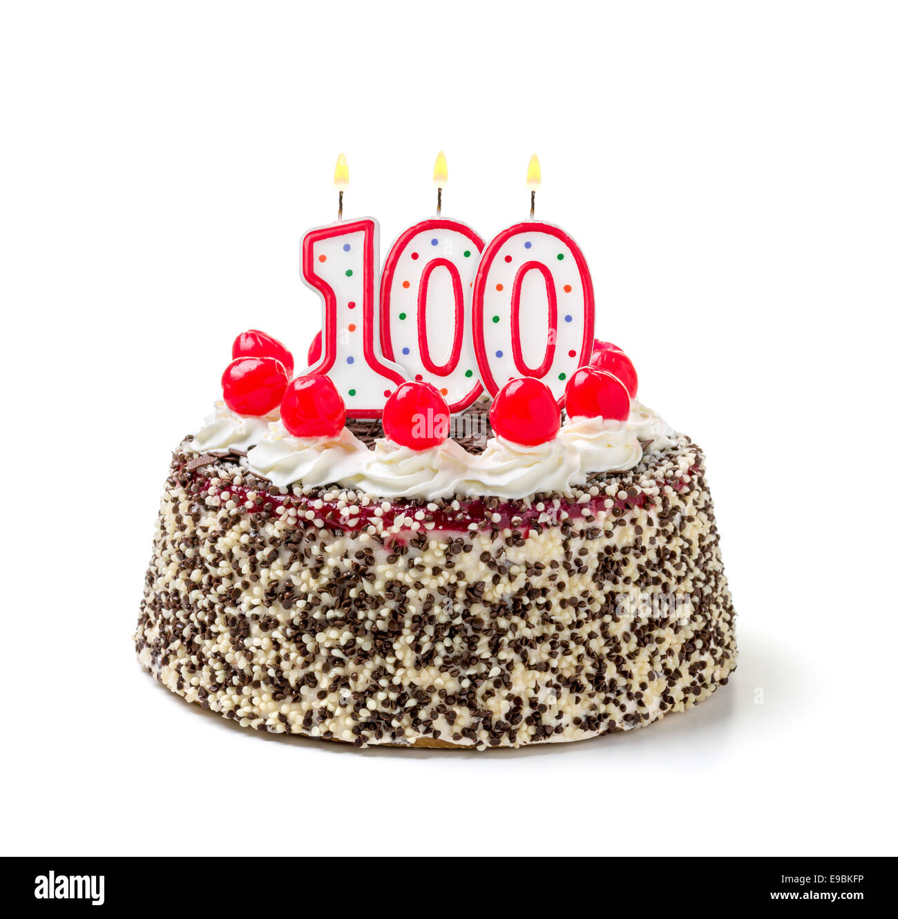 Peachy 100Th Birthday Cake Stock Photos 100Th Birthday Cake Stock Funny Birthday Cards Online Aboleapandamsfinfo