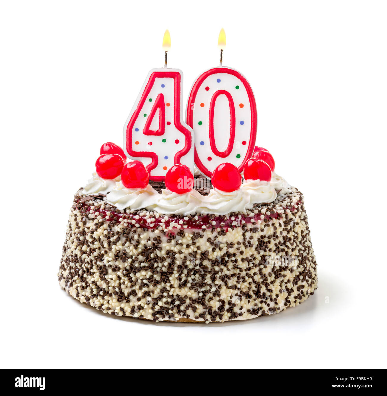 40th Birthday Cake Cut Out Stock Images Pictures Alamy