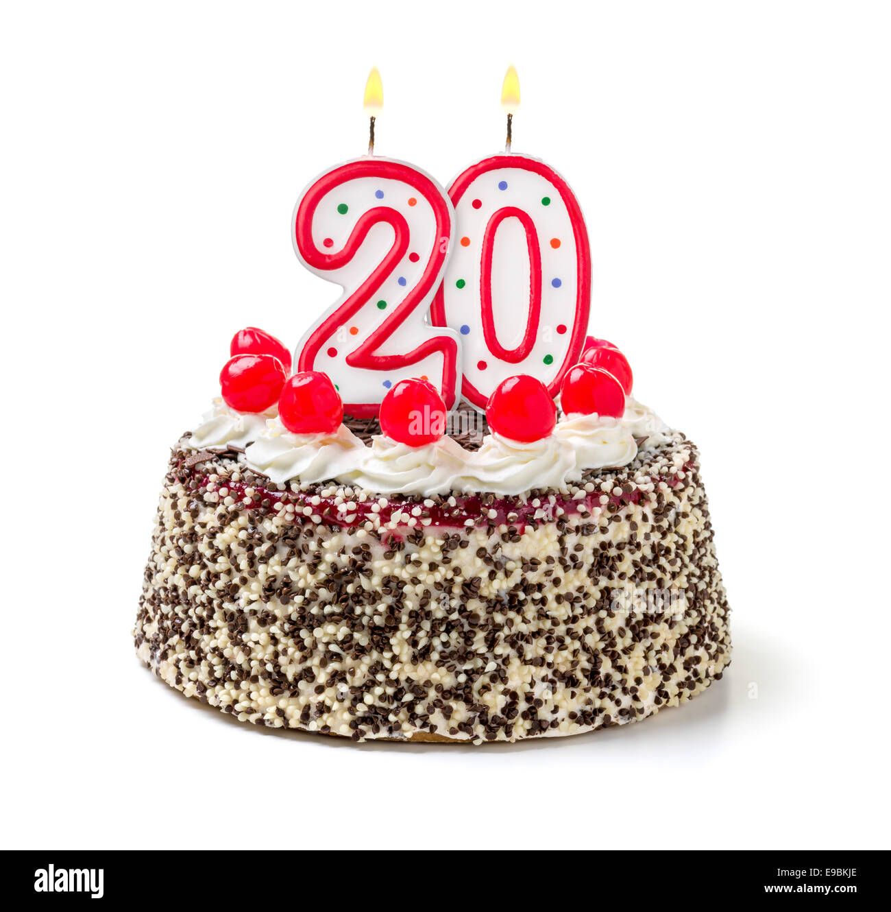 Fabulous 20Th Birthday Cake Stock Photos 20Th Birthday Cake Stock Images Personalised Birthday Cards Veneteletsinfo