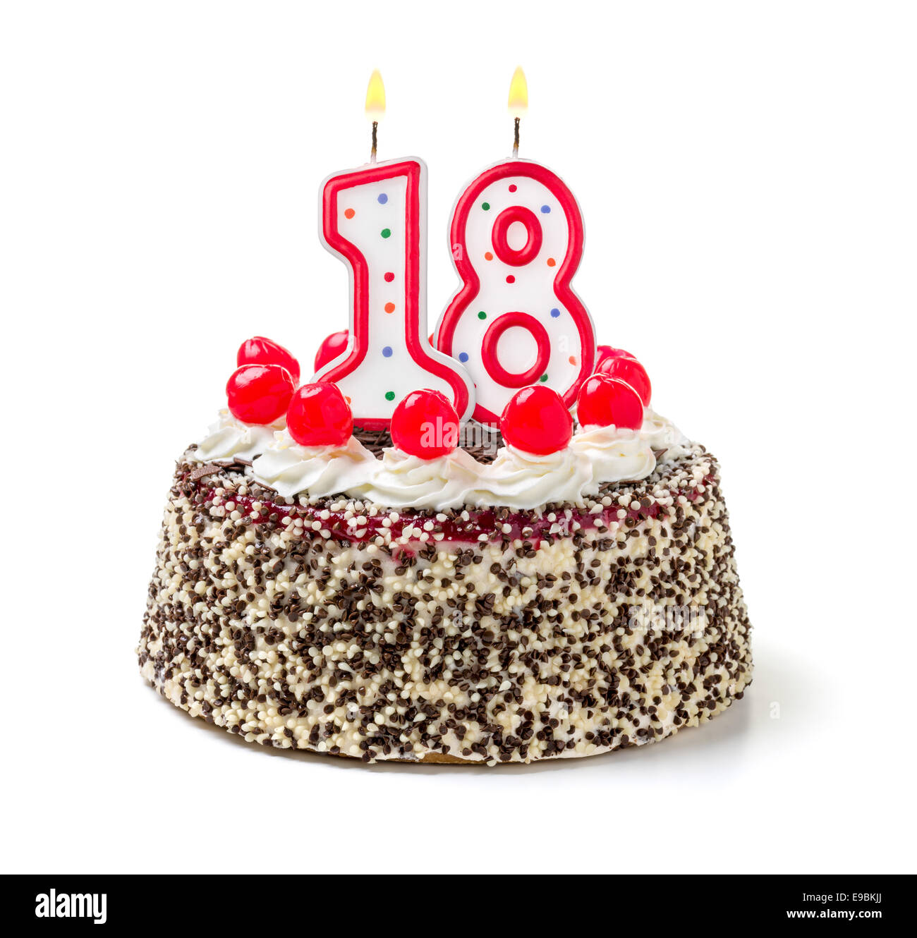 Enjoyable 18Th Birthday Cake Stock Photos 18Th Birthday Cake Stock Images Funny Birthday Cards Online Elaedamsfinfo