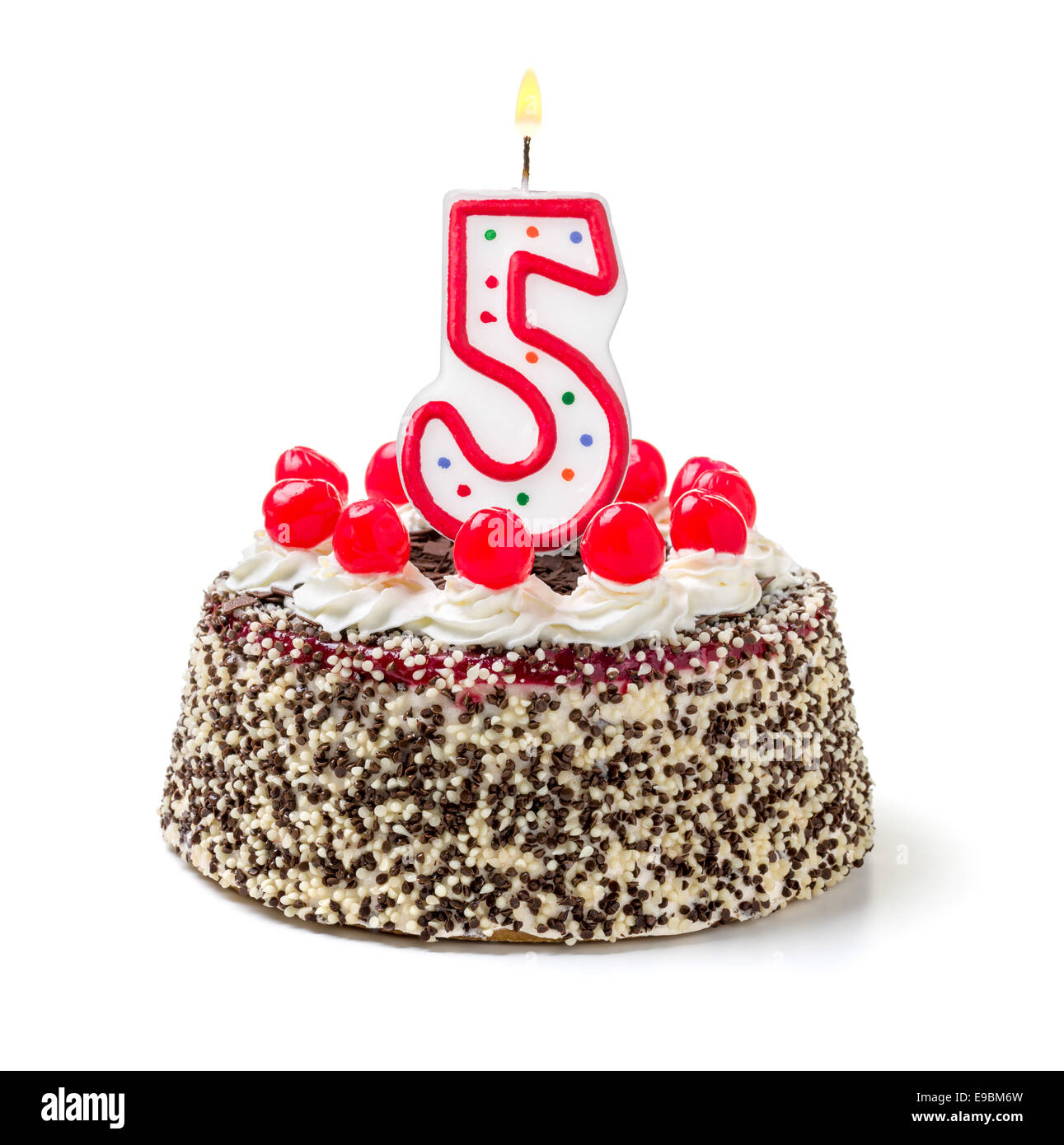 5th Birthday Cake Cut Out Stock Images Pictures Alamy