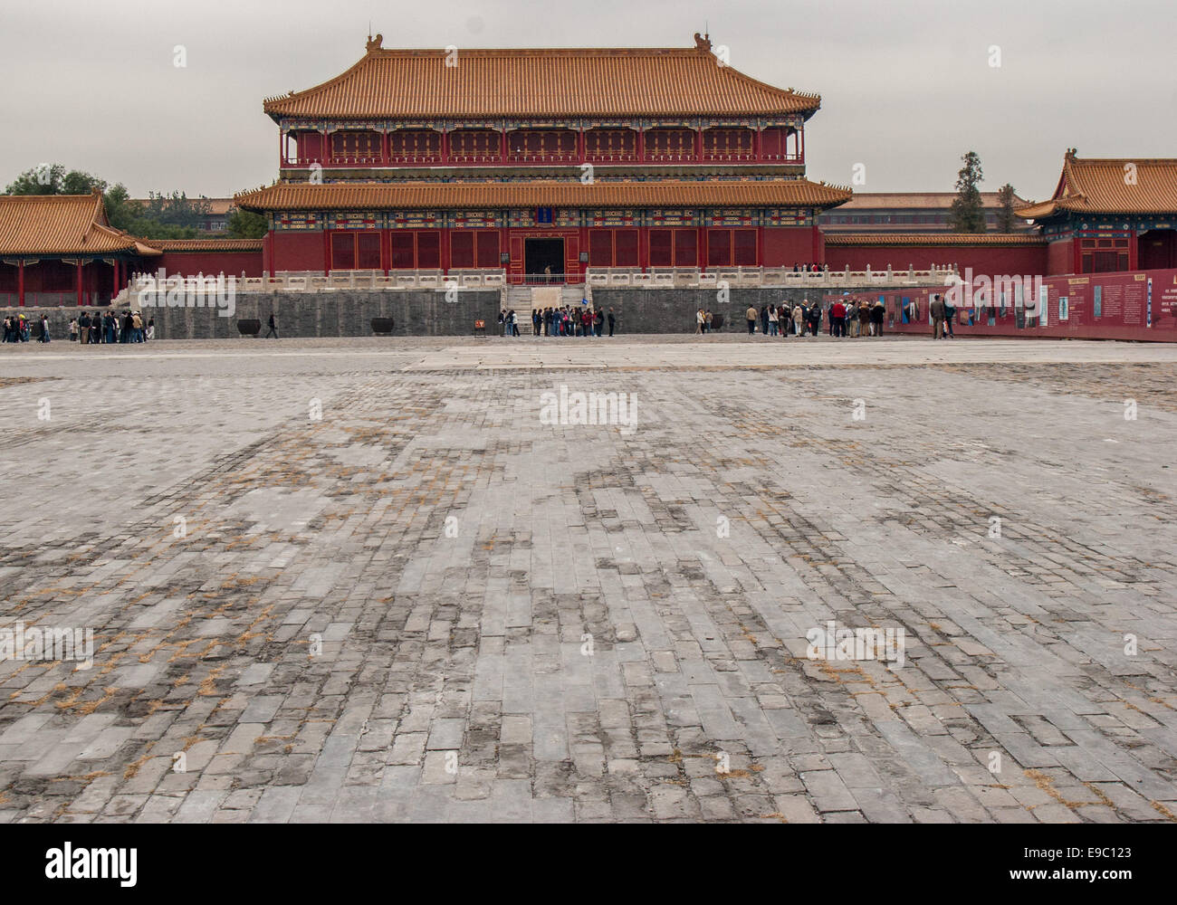 Oct. 26, 2006 - Beijing, China - The Pavilion of Spreading Righteousness, or Belvedere of Spreading Righteousness - Stock Image
