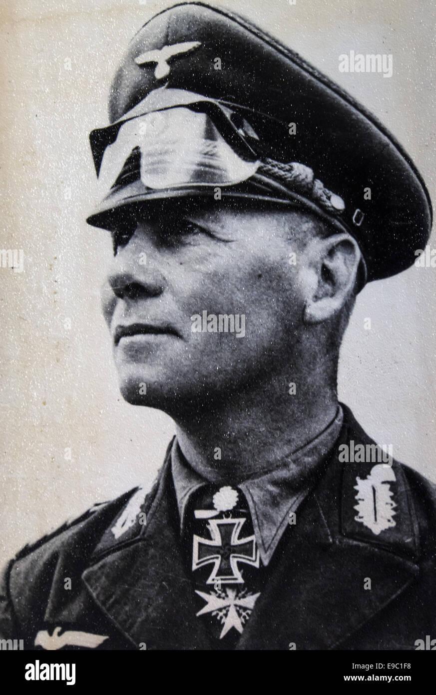 """Erwin Rommel. 11th Oct, 2014. Erwin Johannes Eugen Rommel (15 November 1891 ''"""" 14 October 1944), popularly - Stock Image"""