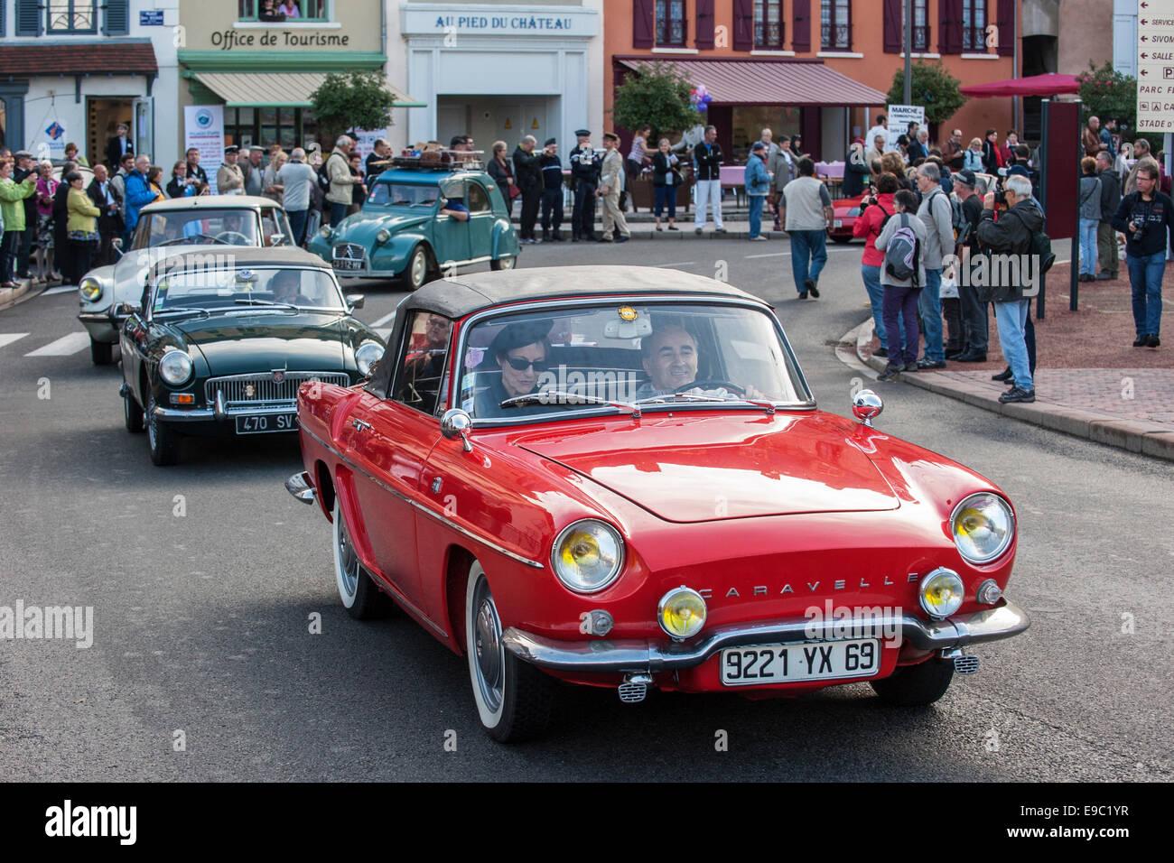 Classic cars during Embouteillage de la Route Nationale 7, event for ...