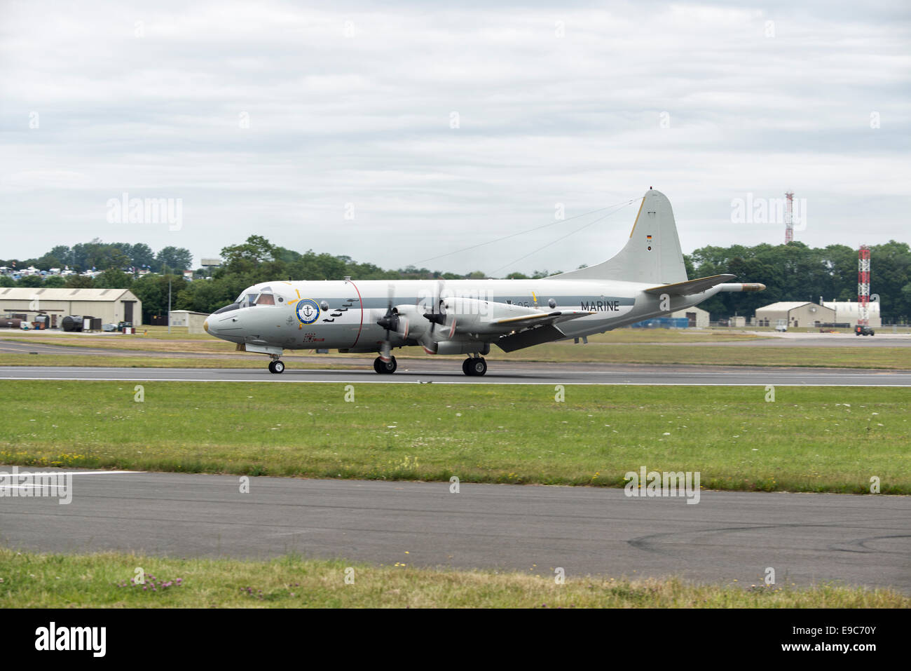 German Navy Lockheed P3 Orion anti-submarine and maritime surveillance  airplane at the Royal International Air - Stock Image