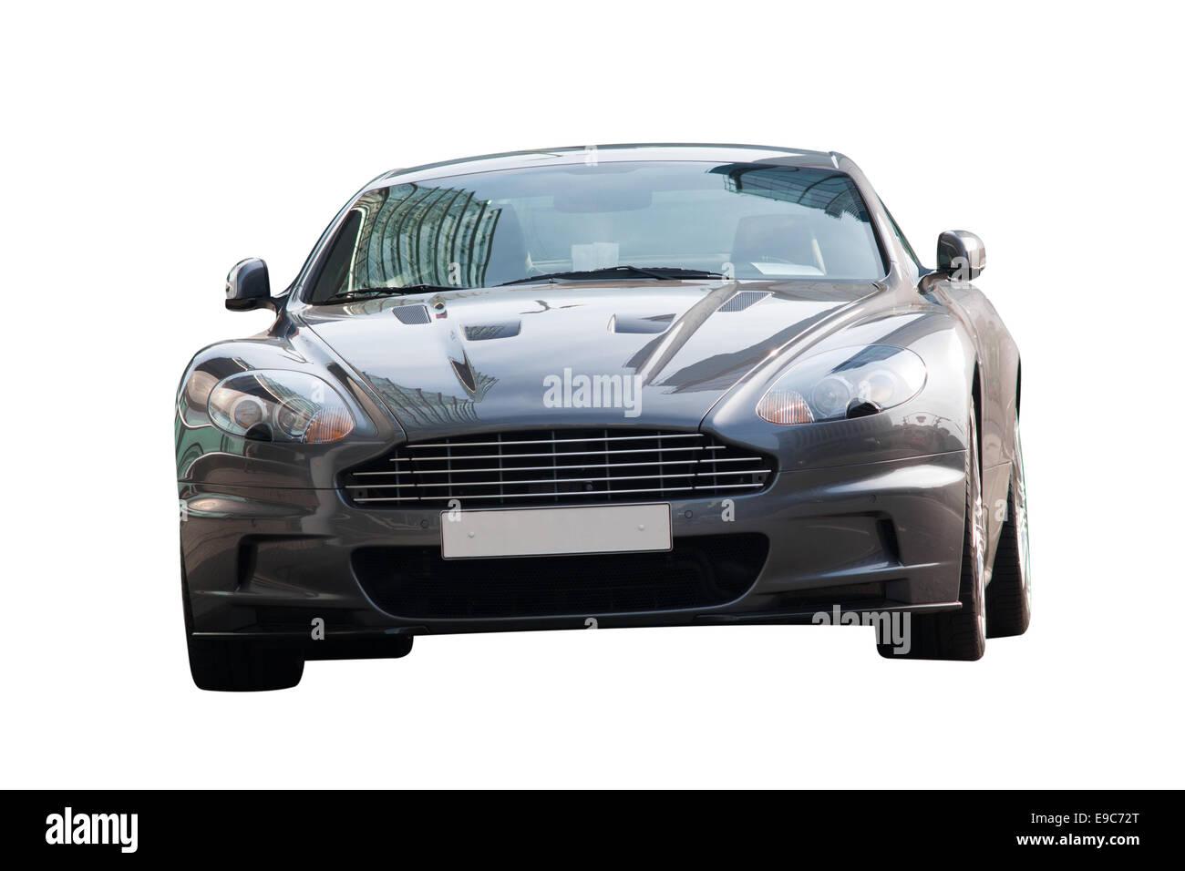 British Sports Car Aston Martin front view - Stock Image