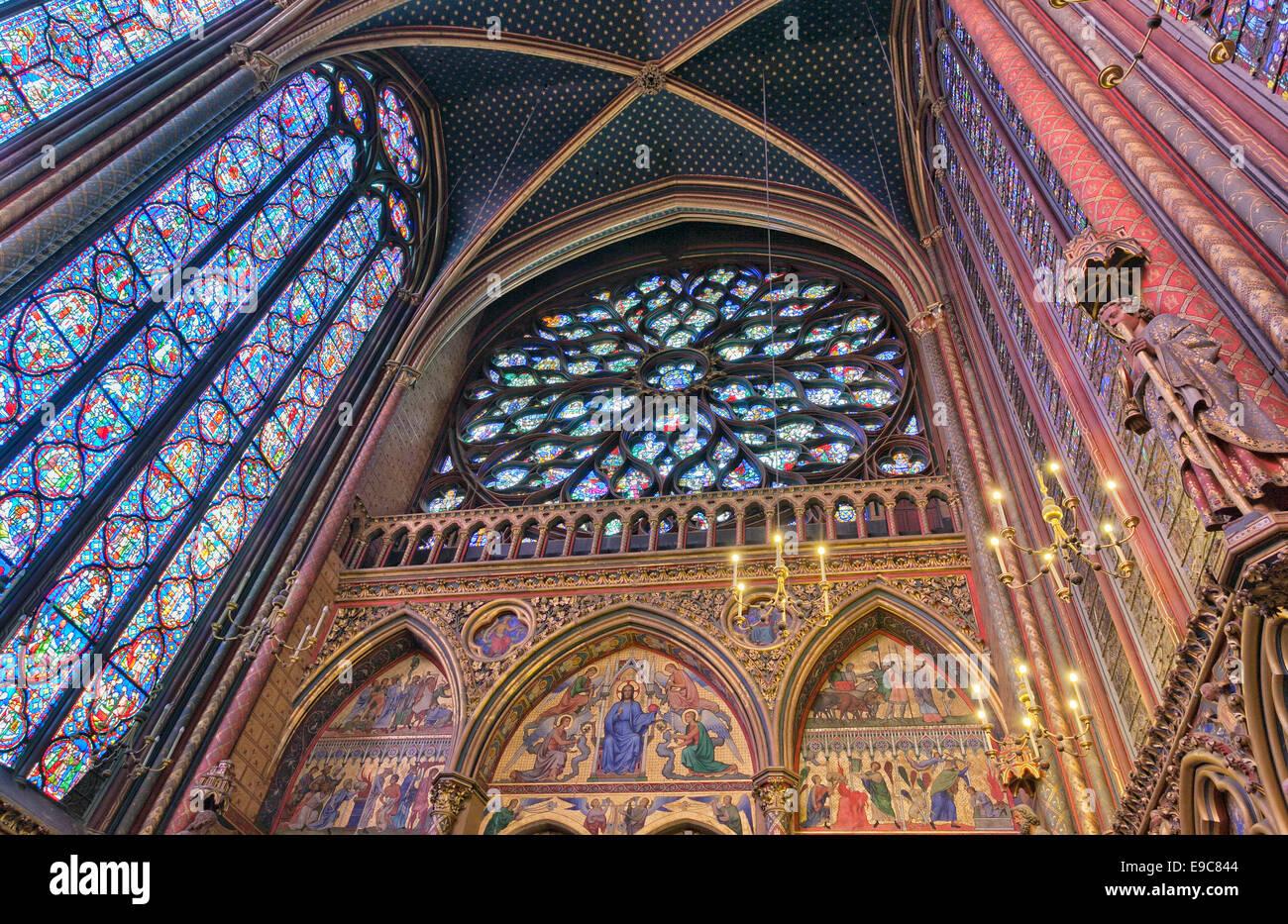 Holy Chapel  (Sainte-Chapelle) in  Paris. - Stock Image