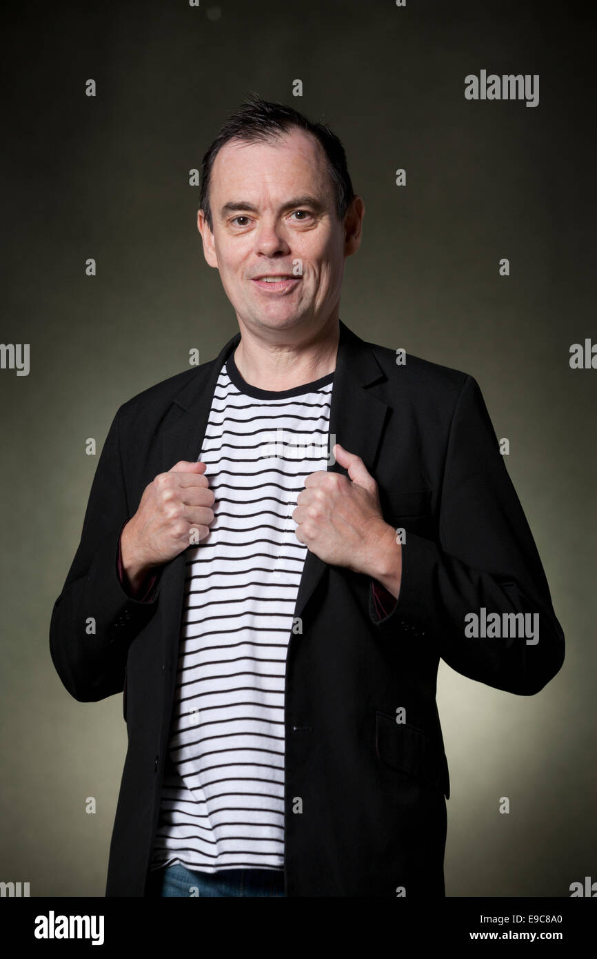 Kevin Eldon, British actor, comedian and writer, at the Edinburgh International Book Festival 2014. - Stock Image