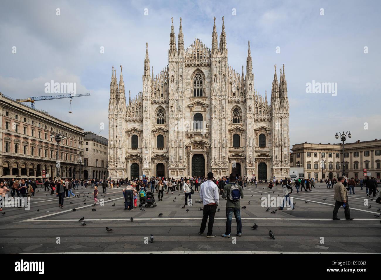 Piazza del Duomo, Milano, Italy - Stock Image