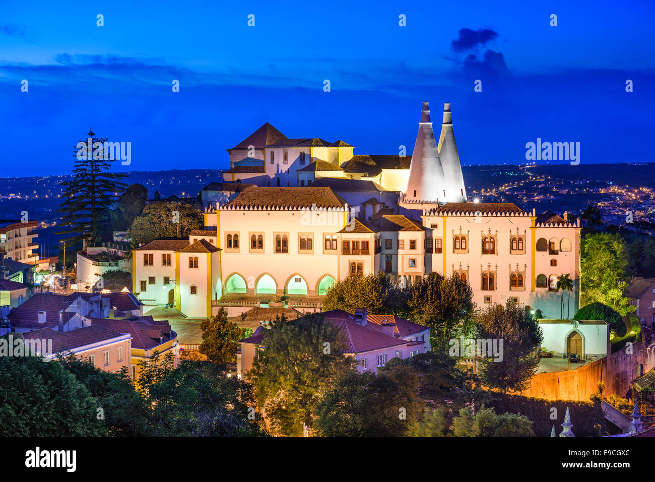 Sintra, Portugal at Sintra National Palace - Stock Image