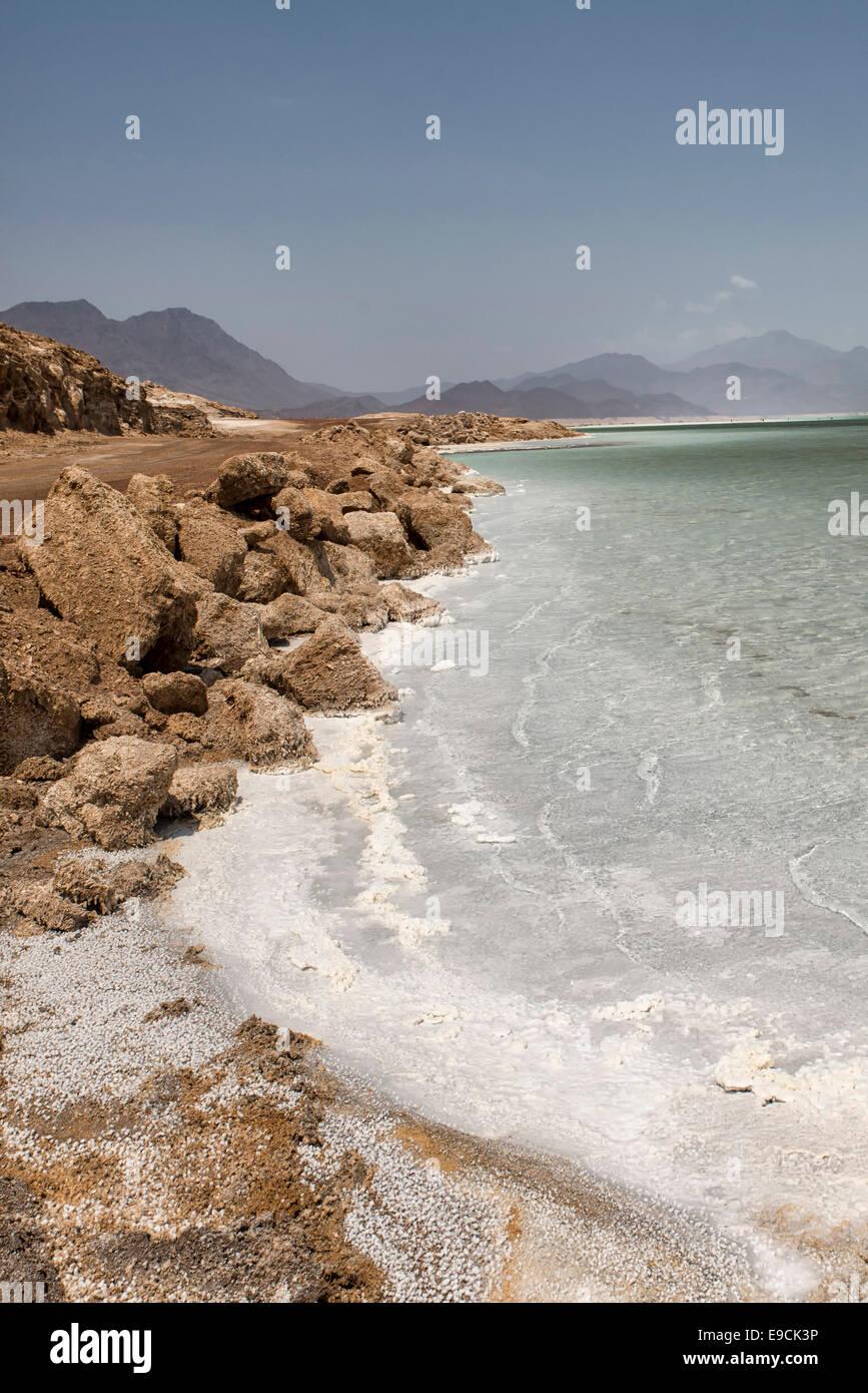 Lake Assal, Djibouti - Stock Image