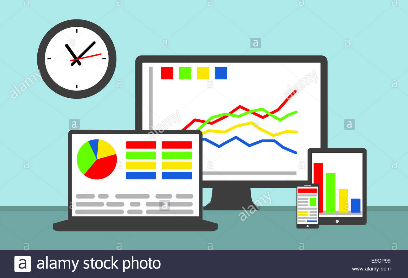 analysis and statistic concept - Stock Image
