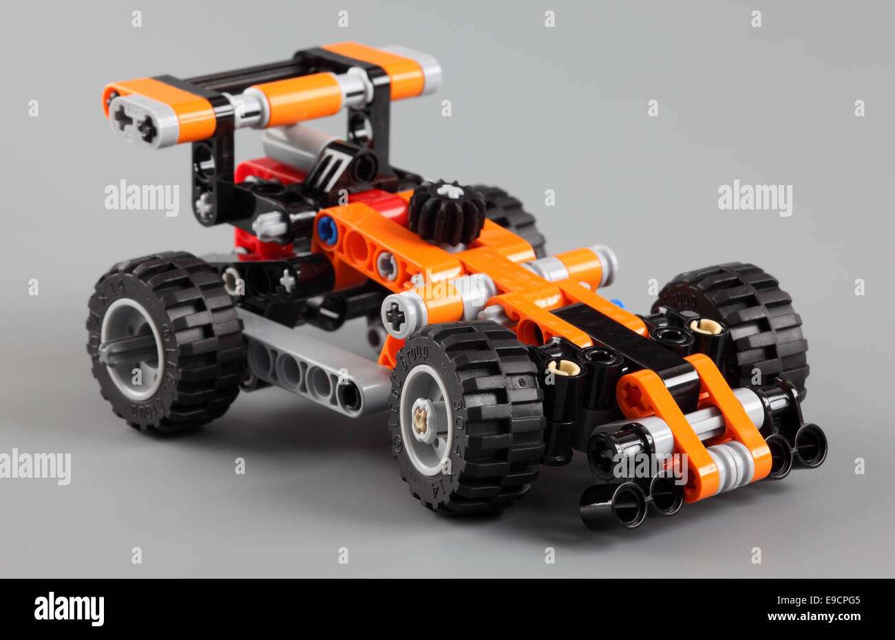 Tambov Russian Federation April 07 2013 Lego Technic Race Car On