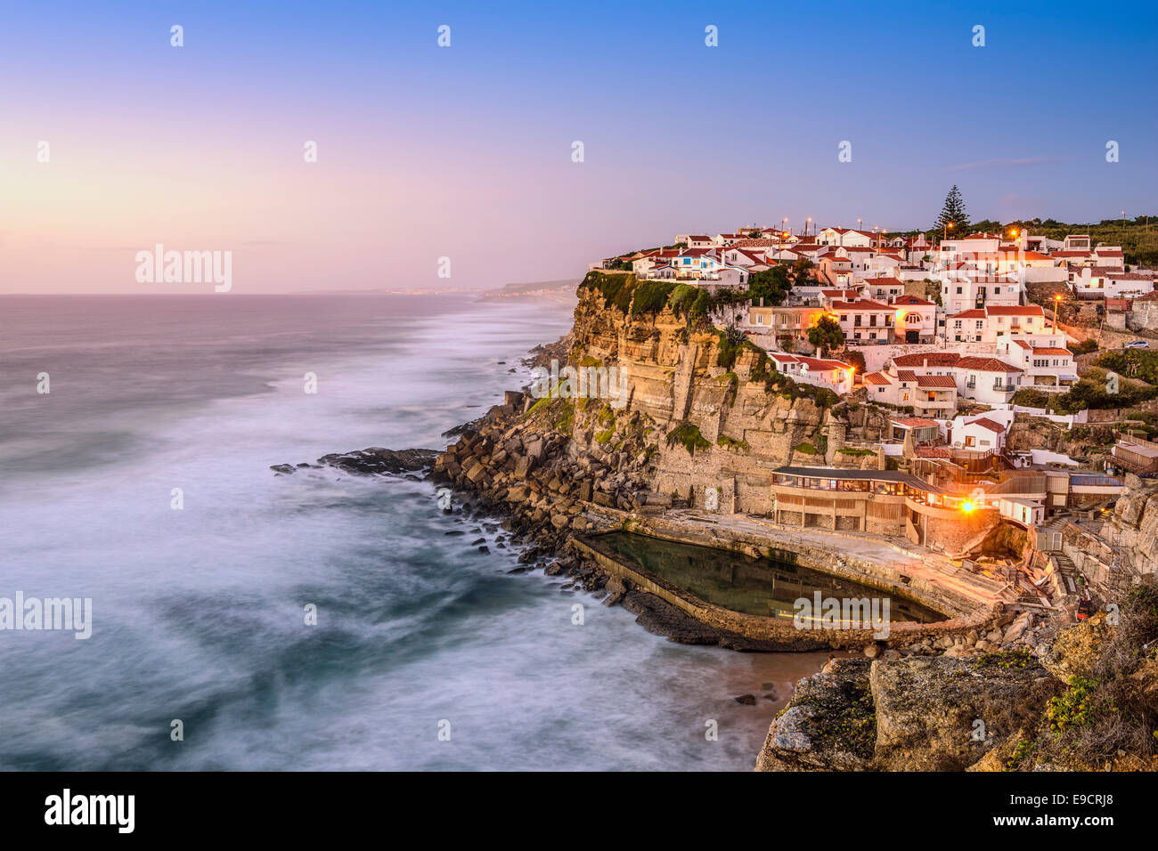 Azenhas Do Mar, Sintra, Portugal townscape on the coast. - Stock Image