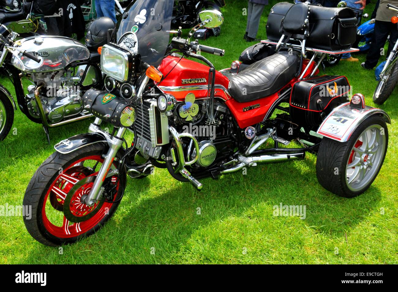 Old Red Motorcycle Engine Details Stock Photos Old Red