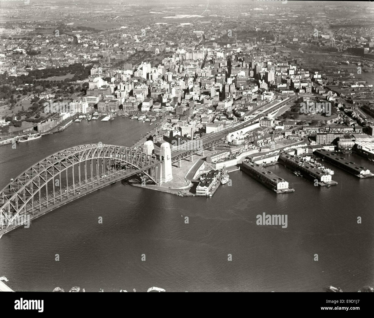 Sydney Harbour Bridge and City from North Sydney 2 14039613382 o - Stock Image
