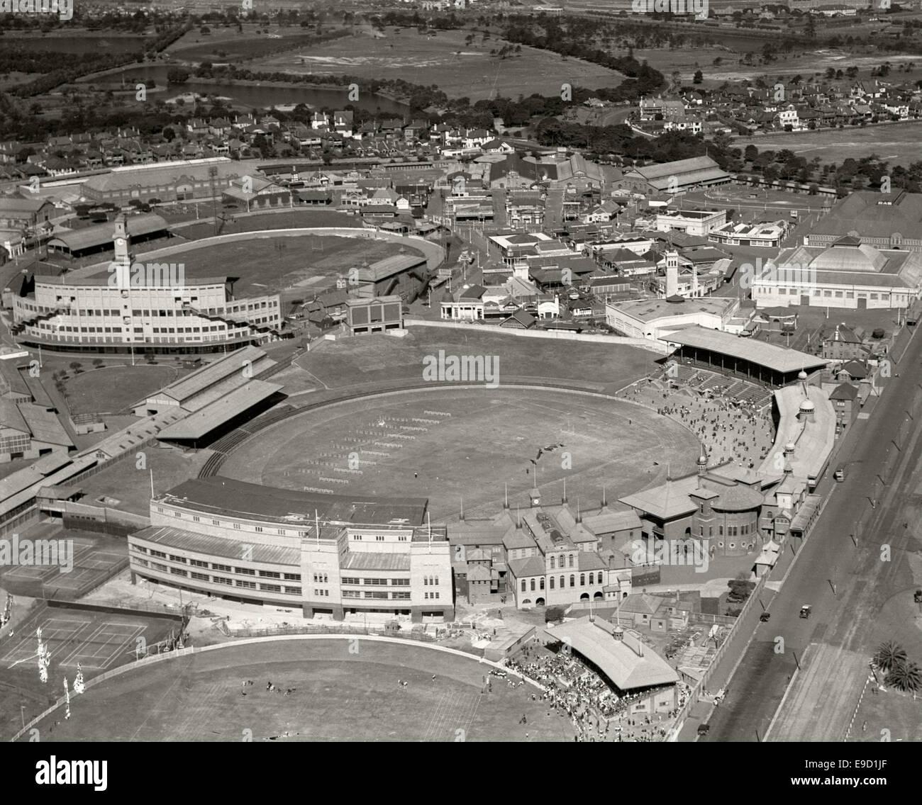 Sydney Showground and Cricket Ground 1936 14019783946 o - Stock Image