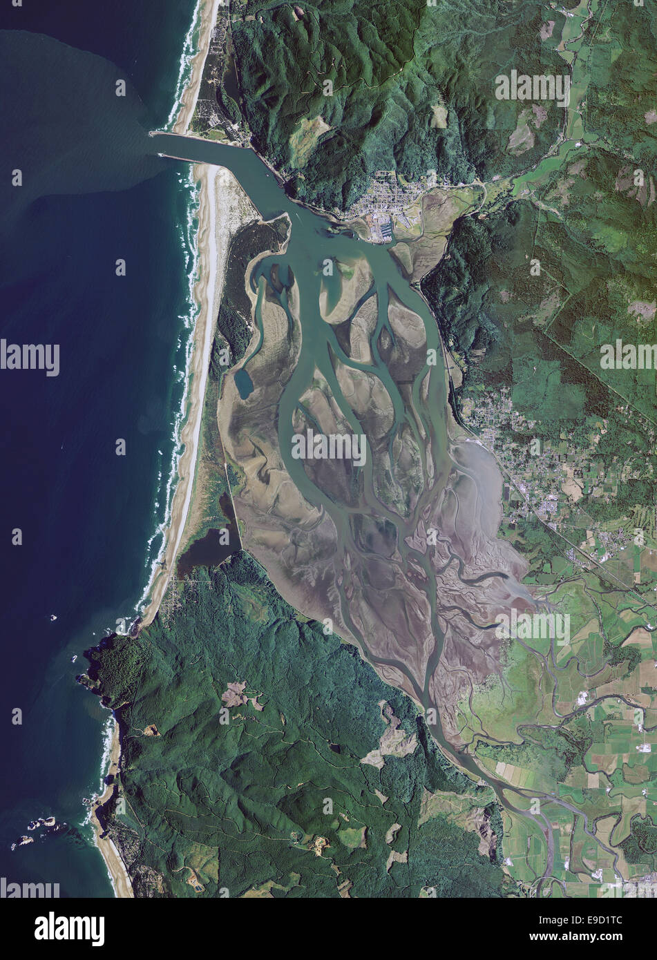 Aerial Photo Map Of Tillamook Bay Oregon Stock Photo 74660220 Alamy