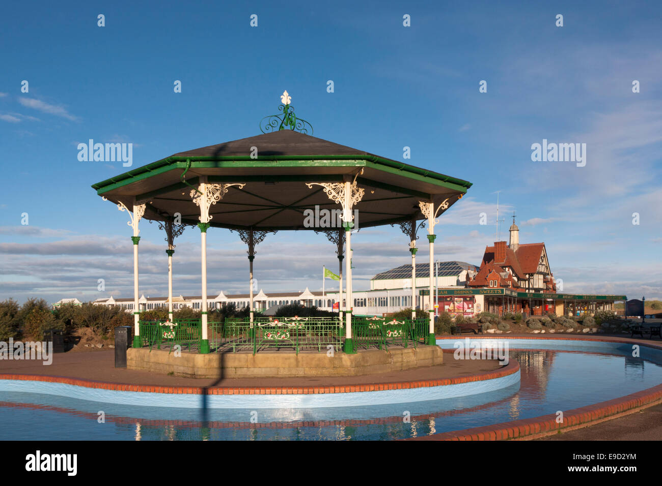 St Annes pier and bandstand - Stock Image